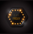 black friday banner on a glass button with vector image vector image