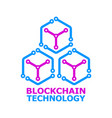 blockchain colorful logo element on white vector image vector image