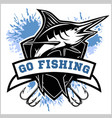 blue marlin fishing logo vector image vector image