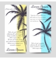 Brochure flyers template with palm tree vector image vector image