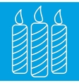 Candles thin line icon vector image vector image