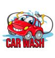 car wash cartoon symbol vector image vector image
