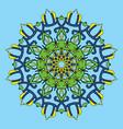 cartoon circular pattern arts round symbol vector image