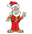 Cartoon hippie wearing a Santa hat vector image vector image