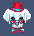 cartoon puppy labrador vector image vector image