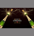 champagne explosions with golden spatters and vector image vector image