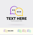 chat logo isolated on background vector image vector image