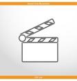 clapperboard web icon vector image vector image