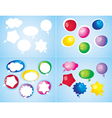 colorful glossy icons vector image