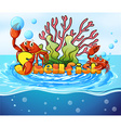 Crabs living in the ocean vector image vector image