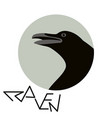 crow raven profile vector image vector image