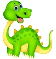 Cute dinosaur cartoon vector image