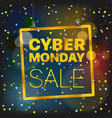 cyber monday concept season sale luxury golden vector image vector image