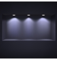 Dark niche for presentations vector image