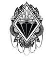 Diamond tattoo vector image vector image