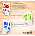 discount and sales poster vector image vector image