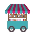 drinks cart icon vector image