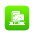 email icon green vector image vector image