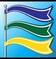 flag banner vector image
