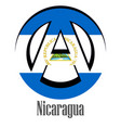 flag of nicaragua of the world in the form of a vector image vector image