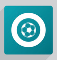 flat football ball icon vector image vector image
