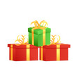 gift boxes isolated on white background gifts vector image