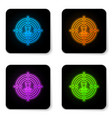 glowing neon head hunting concept icon isolated vector image vector image