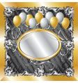 gold amp silver balloon background vector image vector image