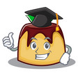 graduation pudding character cartoon style vector image vector image