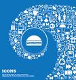 Hamburger icon sign Nice set of beautiful icons vector image vector image