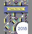 happy new year figures backgrund design vector image