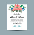 invitation card with flowers decoration vector image