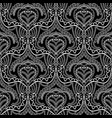 lace ethnic style seamless pattern black and vector image vector image