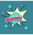 lettering boom bomb vector image vector image