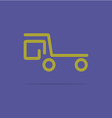 Linear dump truck icon vector image
