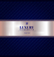 luxury invitation blue background with a pattern vector image vector image