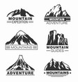 mountain and outdoor adventure logo set vector image