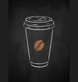 paper coffee cup chalk vector image