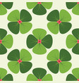 pattern 0064 clover vector image vector image