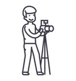 photographer with camera and tripodphoto studio vector image