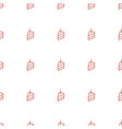 piece cake icon pattern seamless white vector image vector image