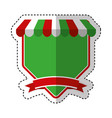 pizza shop frame icon vector image
