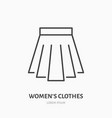 pleated skirt flat line icon classic women vector image vector image
