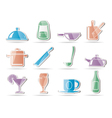 restaurant cafe food and drink icons vector image