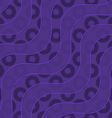 Retro 3D purple waves and donates vector image vector image