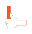 ruler utensil icon vector image