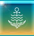 sailor logo vector image vector image