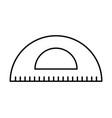 school protractor doodle vector image vector image