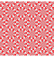 seamless geometrical red white and gray pattern vector image vector image