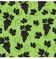 seamless green background with leaves and grapes vector image vector image
